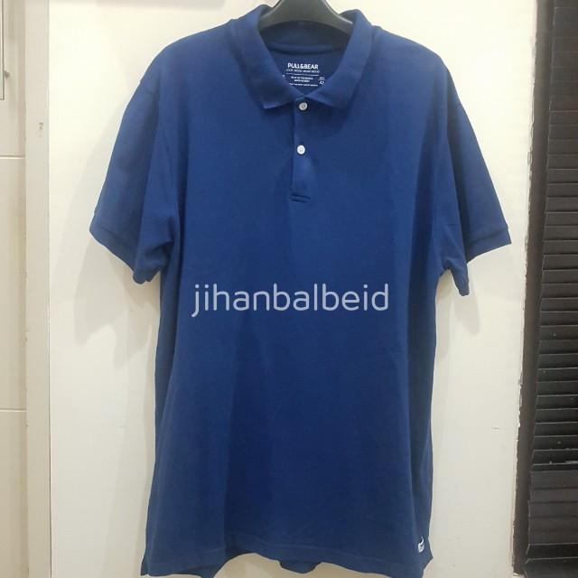 Pull & Bear Navy (Polo Shirt Kaos Kerah Murah ORIGINAL)