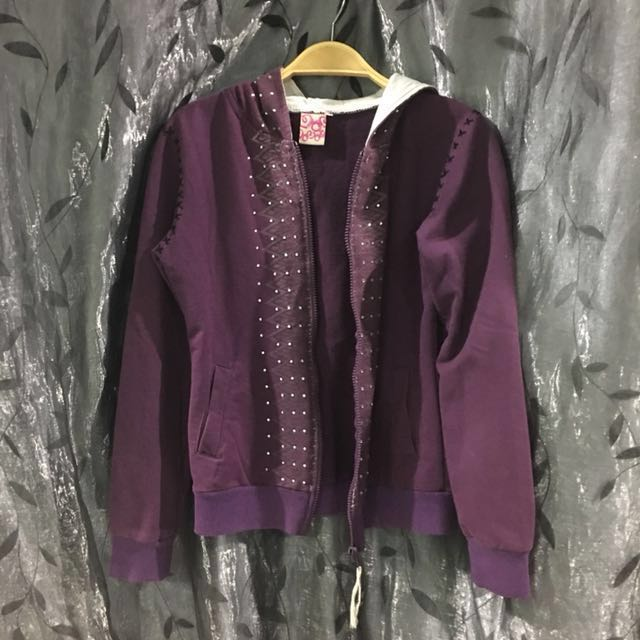 Purple jacket hooded