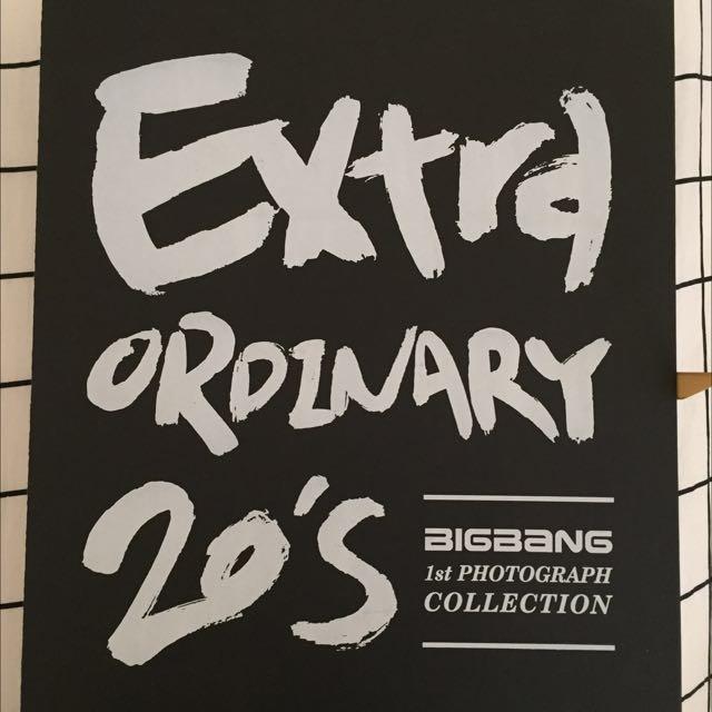 RARE!! COLLECTORS EDITION BIG BANG 1st Photograph Collection - Extraordinary 20's