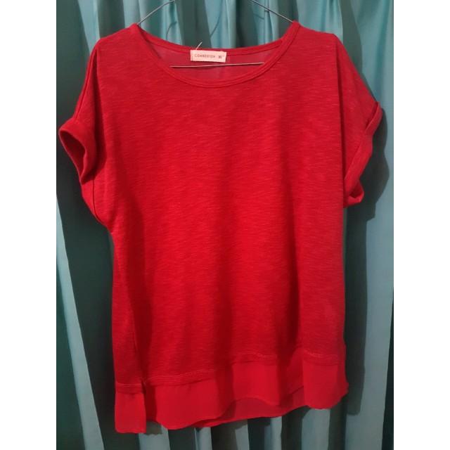 Connexion Blouse Merah - Red Blouse