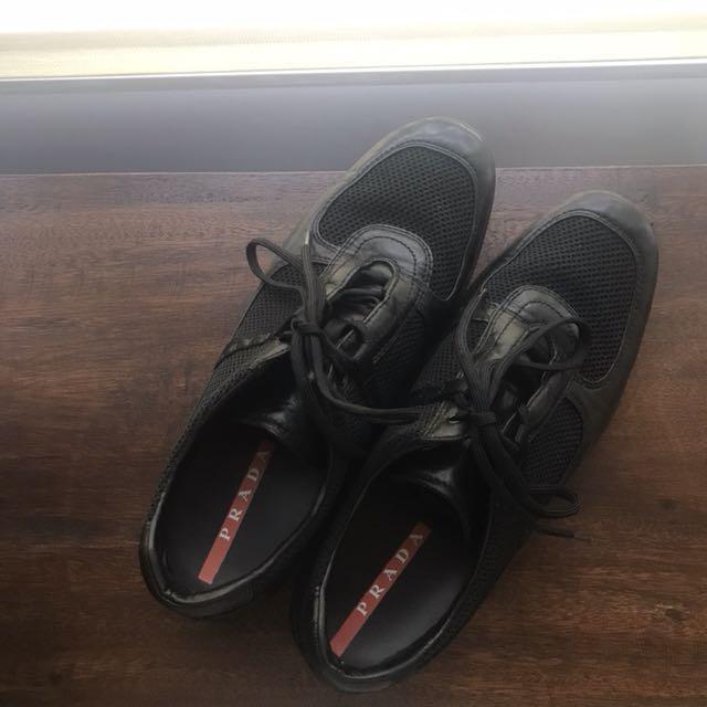 REPRICED!!! PRADA Leather Sneakers - Black