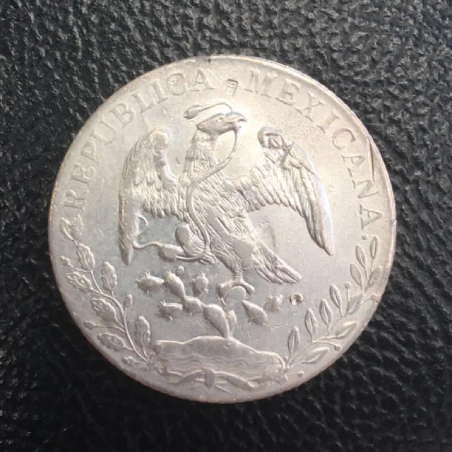 Republica Mexicana 8reales silver coin MoMH 1888