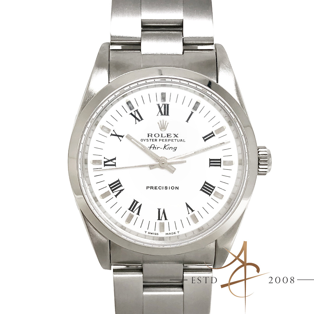 c74c1373eb3 Rolex Air King Precision Ref 14000 Roman Dial No Lug Hole Watch ...