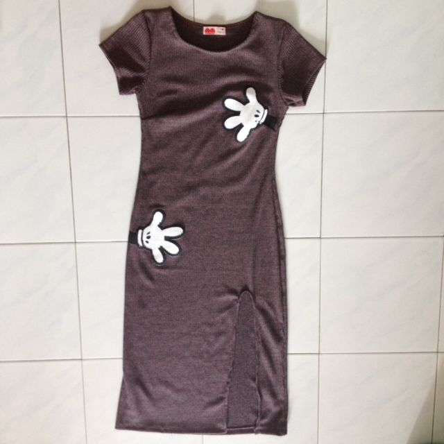 [RS] Bodycon Open Slit Ribbed Dress