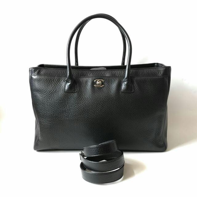 SALE! Excellent Chanel Executive Black Grained SHW #19