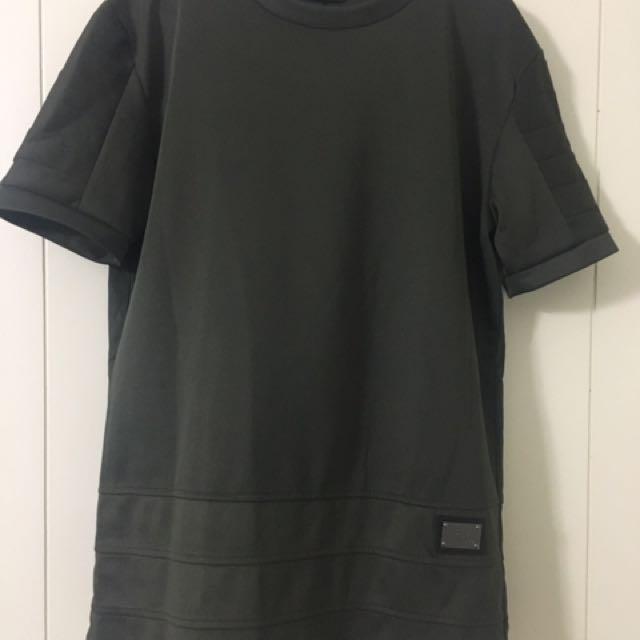 SEED Fashion Army Green Long T-Shirt