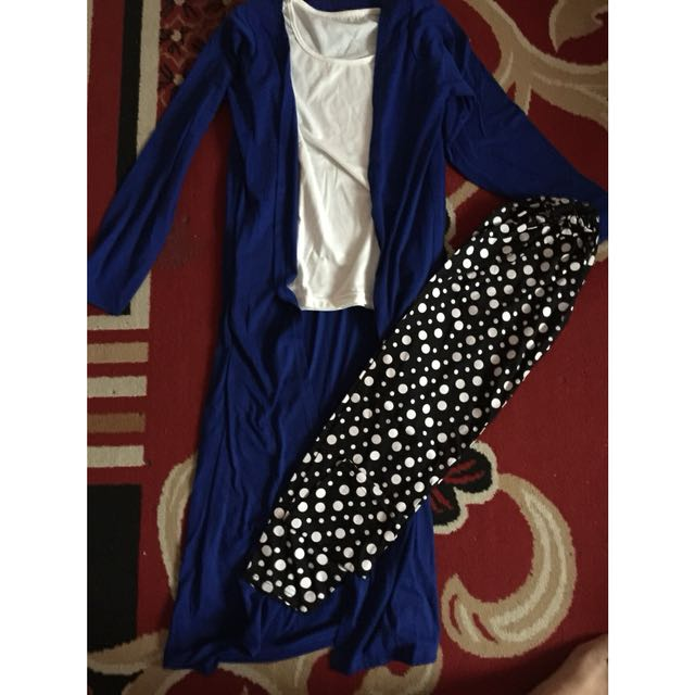 Setelan long cardy legging