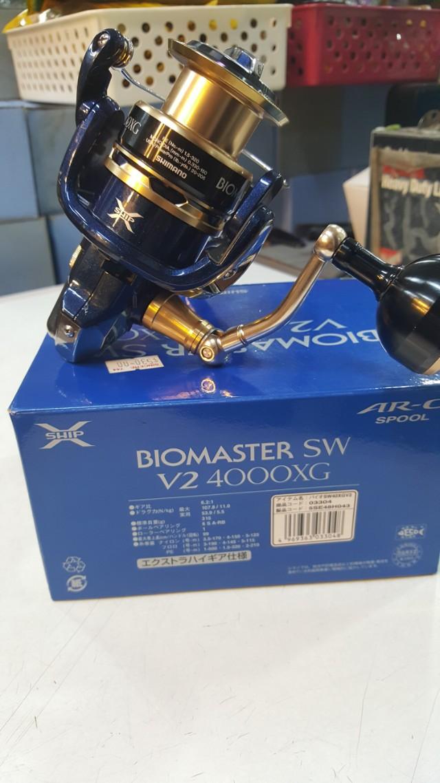 Shimano reel  ( BIOMASTER SW V2  ) 4000XG