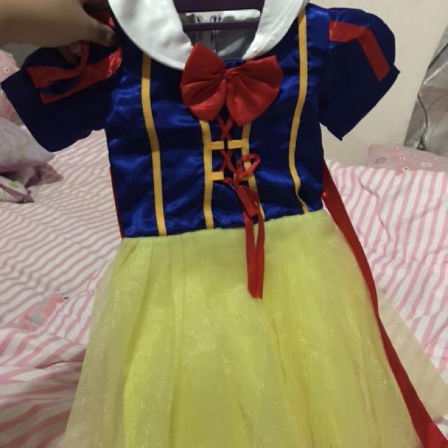 Snow white dress ukuran 2 tahun