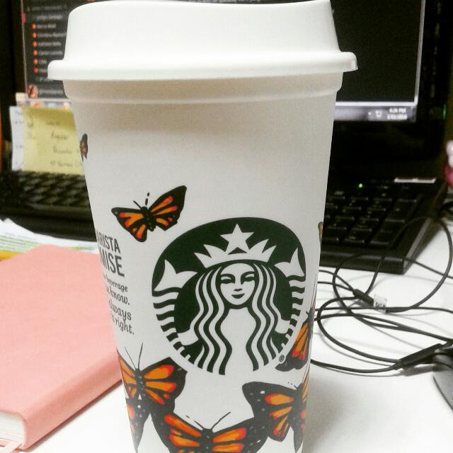 Starbucks Refillable Cup (Butterfly)