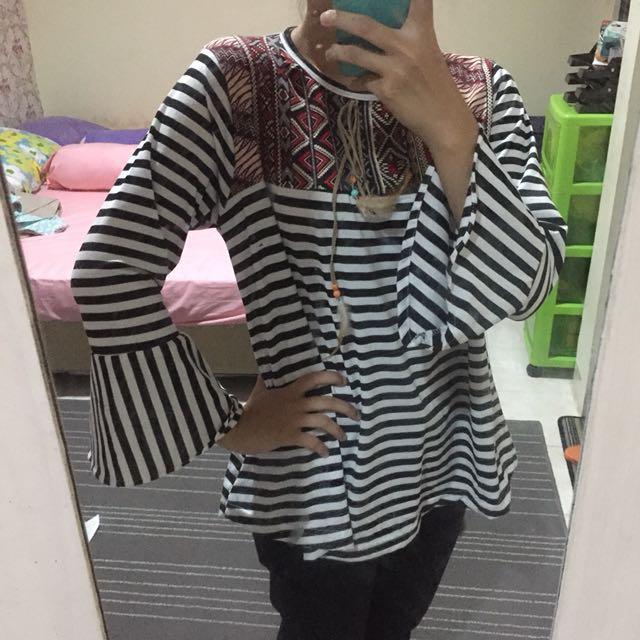 Stripes Bell Blouse