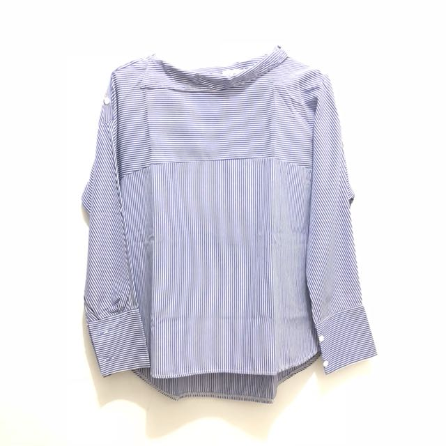 Stripes Blue Shirt    kemeja biru kemeja garis biru kemeja import kemeja bagus kemeja murah kemeja zara look alike