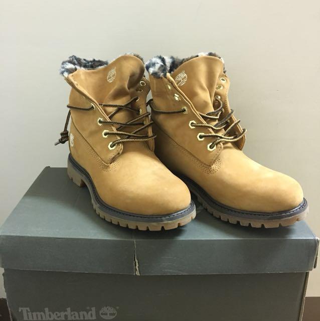 全新❤️Timberland 基本黃靴子(反折豹紋)
