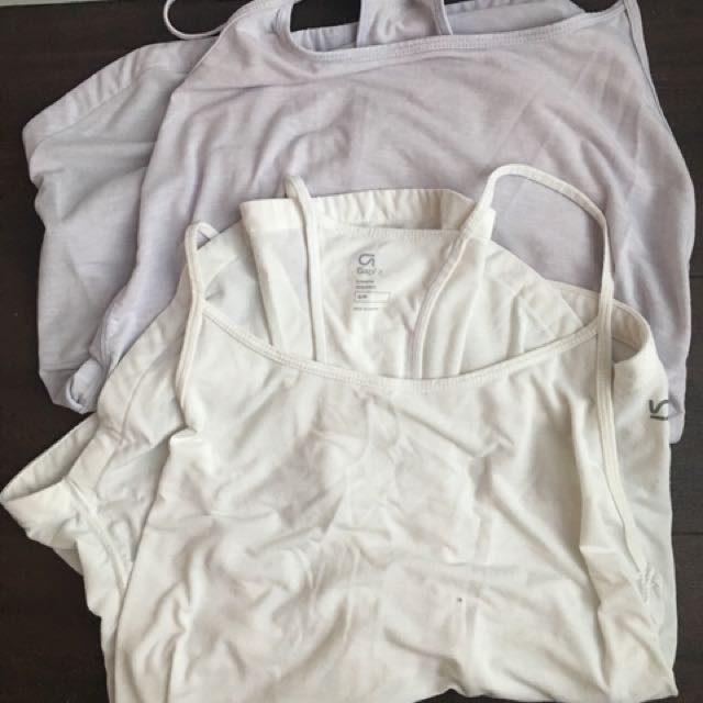 TWO Gap body lululemon lookalike workout tops