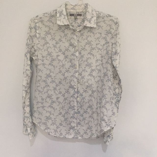 Uniqlo Flower Pattern Shirt