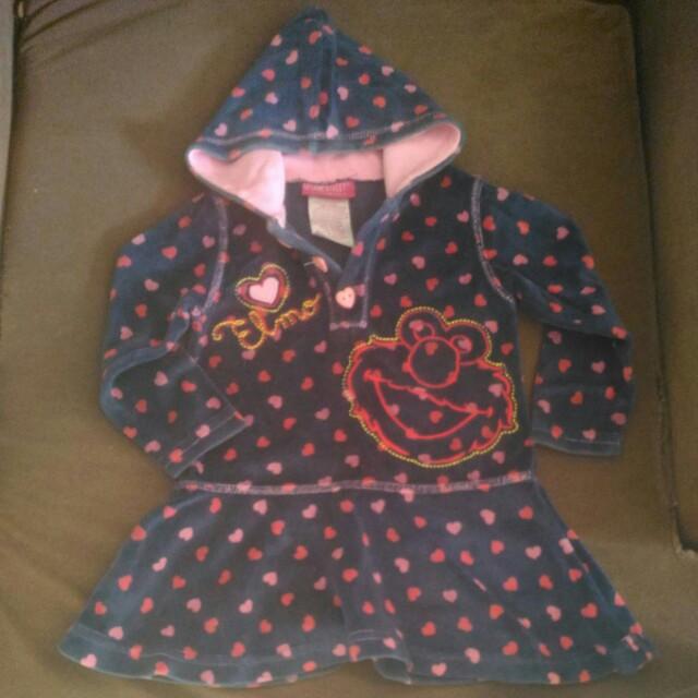 Velvet jacket hood
