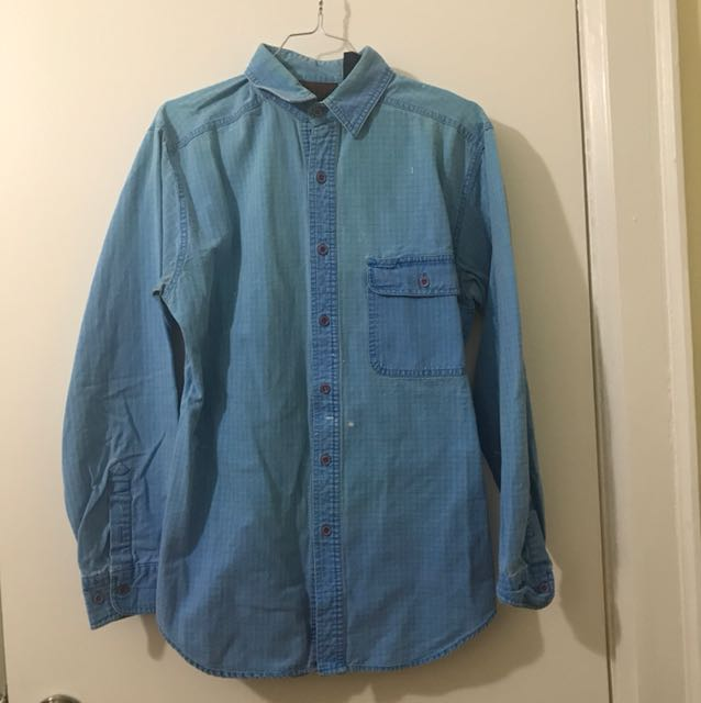 Vintage Blue Button Down