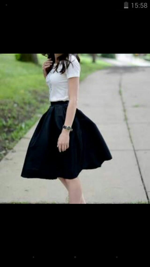 Vintage Style Circle Skirt S
