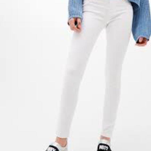 White Bershka Push up Jeans US4 EU36