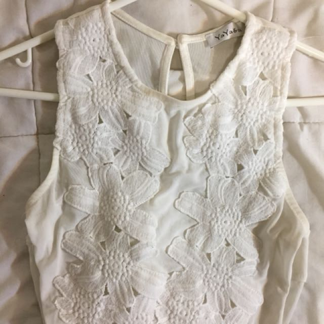 White Flower Bodysuit