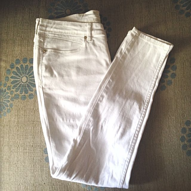 White Stretchy Skinny Jeans