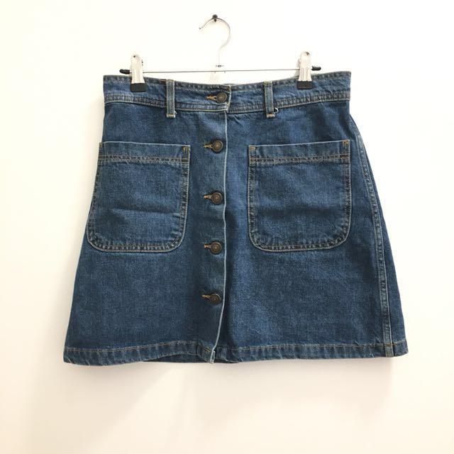 Zara Denim Skirt - Size S/8