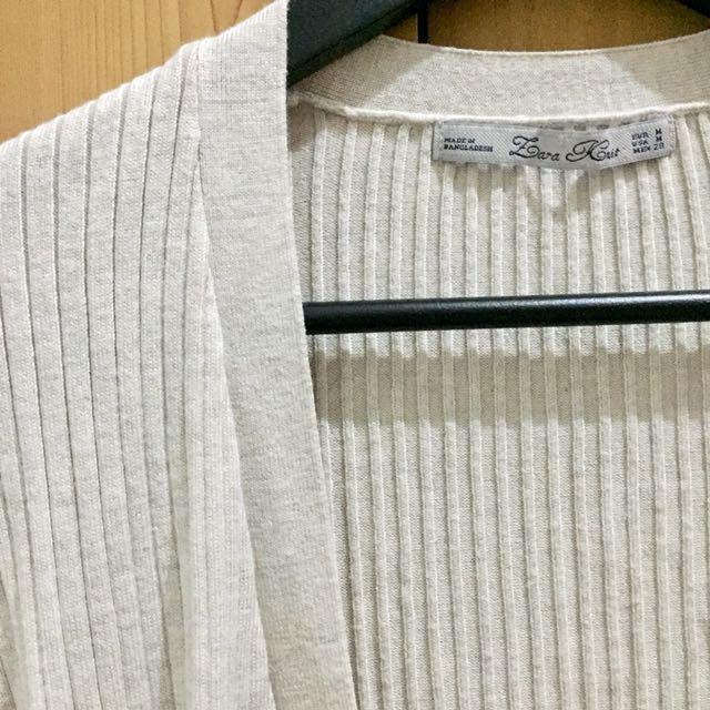 Zara Knit Outer Cream size M
