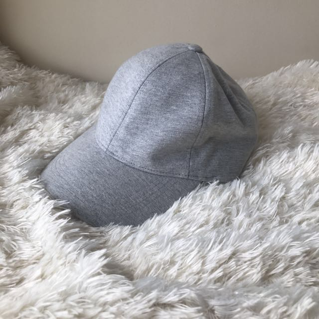 Zara Man Heather Gray Baseball Cap M
