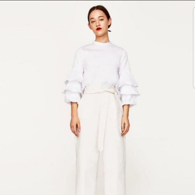 Zara top with frills