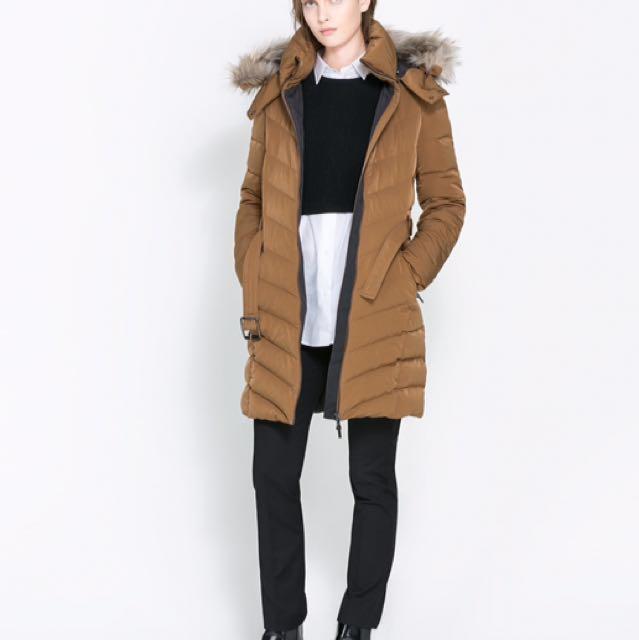 Zara winter jacket size small