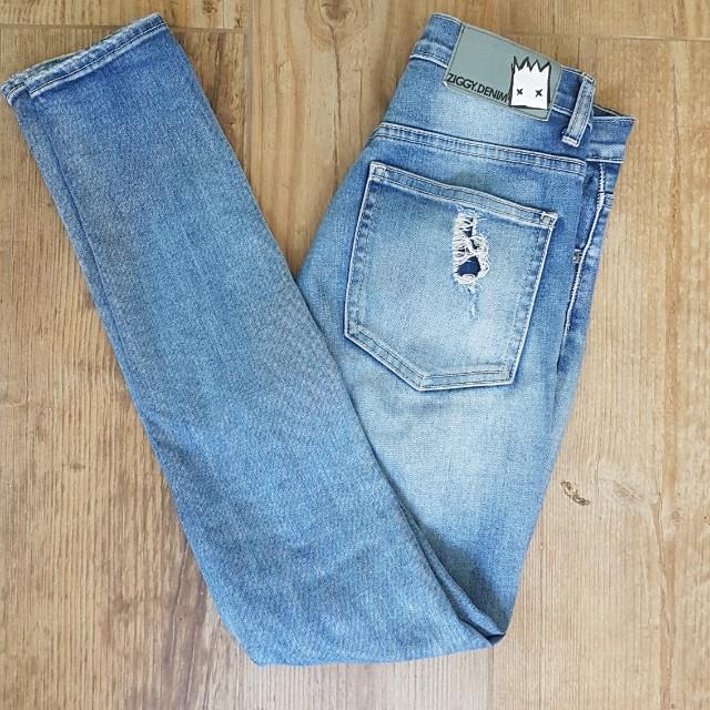 Ziggy denim high waist ripped skinny jeans