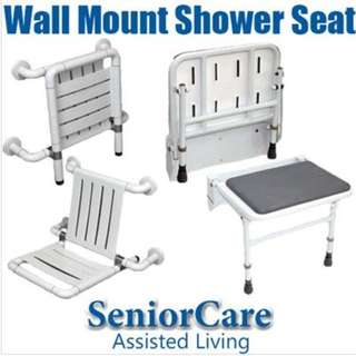 Foldable Shower Seating Chair with Back Rest  ~ Installation Available.