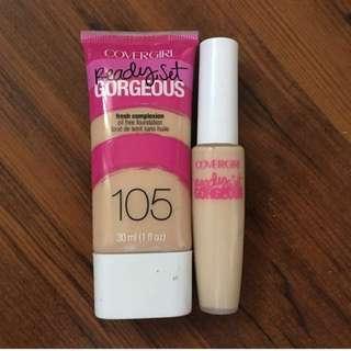Ready set gorgeous foundation 105 / Concealer light