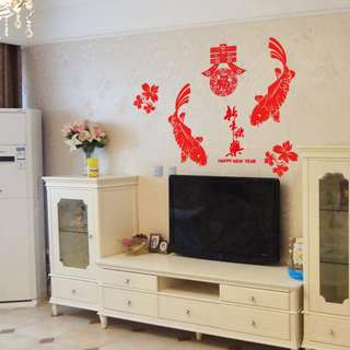 💓CNY decoration SK6032💓 Chinese New Year decoration decals