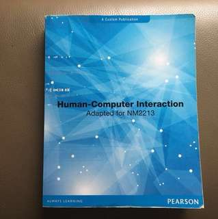 NM2213 Human-Computer Interaction