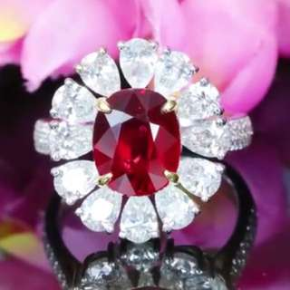Ruby 3.45cts. GRS pigeon Blood Red