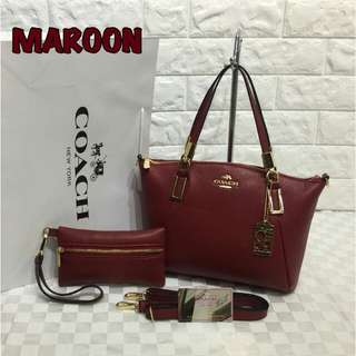 Coach 2 in 1 Maroon