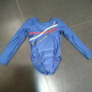 Gymnastics leotards blue