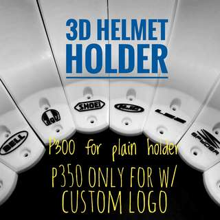 3D Helmet Holder with Toks and Screw
