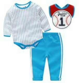 Baby Romper 3 IN 1 -blue baseball