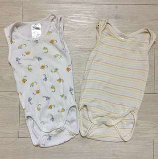 H&M 2 pc set sleeveless bodysuits
