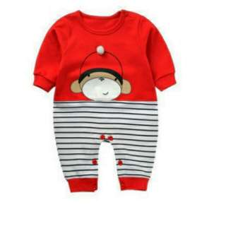 Monkey Baby Long-sleeved Jumpsuit