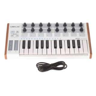 Worlde Ultra-Portable Mini Professional Drum Pad and Keyboard Controller 25-Key USB MIDI