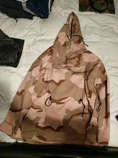 Military desert camo windbreaker