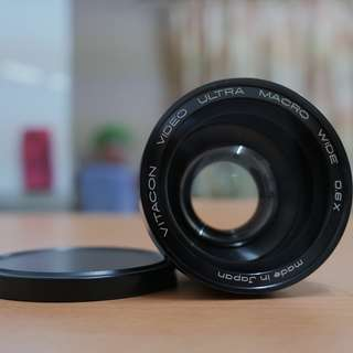 VINTAGE Lens Adapter Vitacon Ultra Macro Wide Angle 0.6X (52mm thread Wideangle)