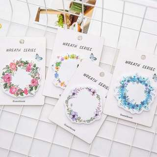 Flower Wreath Memo Pad