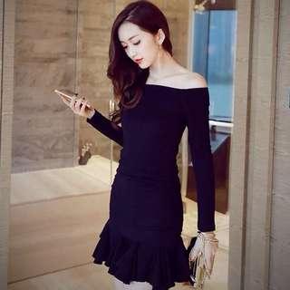Black fairy dinner dress