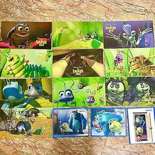 Disney Pixar Bugs 🐜life Monster Inc Post card