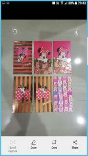 Instock disney mickey mouse minnie mouse ang pao red packet pack of 6   Big size -  can fit $50 without folding.