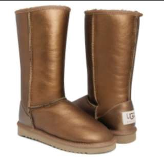 Selling UGG Bronze Leather Classic Tall Boot